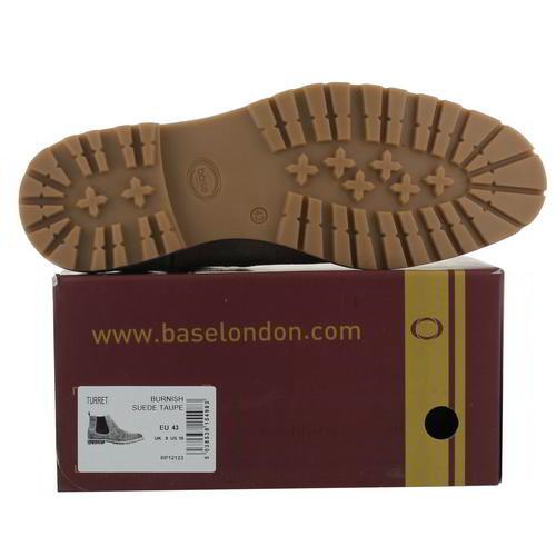 Base London tourelle pour Homme en Daim Marron Cuir Bottines Chelsea Taille 8-11