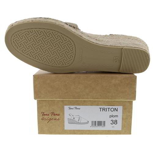 Toni Pons Triton Womens Ladies Wedge Espadrilles Sandals Shoes Silver Size 4-8