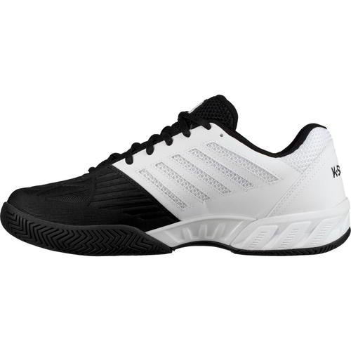 K Swiss Bigshot Light 3 Mens Wide Fit Tennis Trainers Shoes White Black Size UK