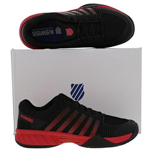 K-Swiss Express Light HB Homme Noir Rouge Chaussures De Tennis Baskets Taille 8-13