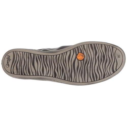 Softinos par Fly London Isla Femme en Cuir Noir Souple Baskets Chaussures Taille 4-8