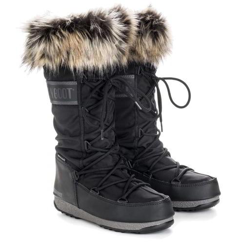 Moon Boots Monaco WP 2 Womens Ladies Black Waterproof Snow Ski Winter Boots