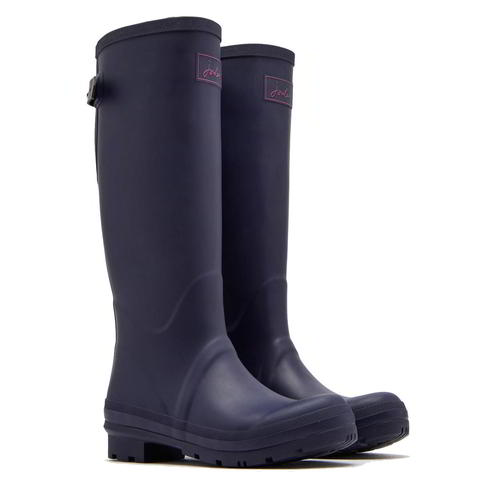 Joules Field Welly Womens Ladies Blue Tall Wellies Wellington Boots Size 4-8