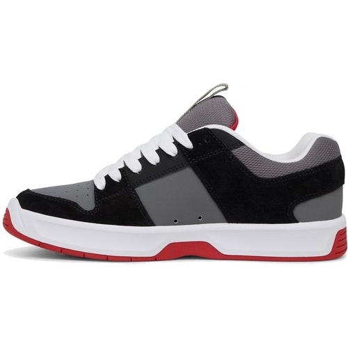 DC Lynx Zero Mens Black Grey Red Leather Skate Shoes Trainers Size 8-13