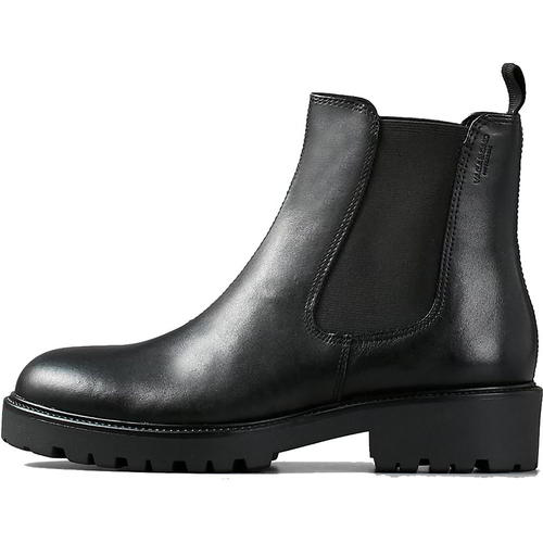 Vagabond Kenova Womens Ladies Black Leather Pull On Chelsea Ankle Boots Size 3-8