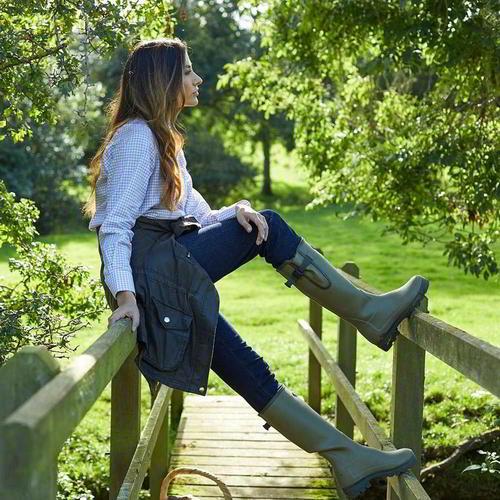 Le Chameau Vierzon para mujeres Damas Vert Verde Jersey Wellies Wellington Botas Talla