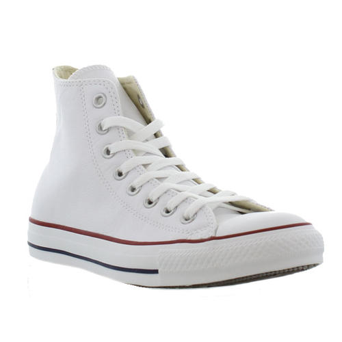 Converse All Star High Top Leather Mens Womens Ladies White Trainers Shoes