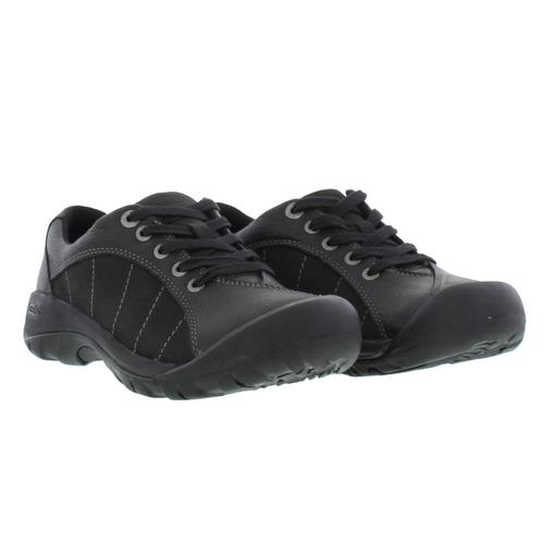 Keen Presidio Womens Ladies Wide Black Leather Walking Shoes Size UK 4-8