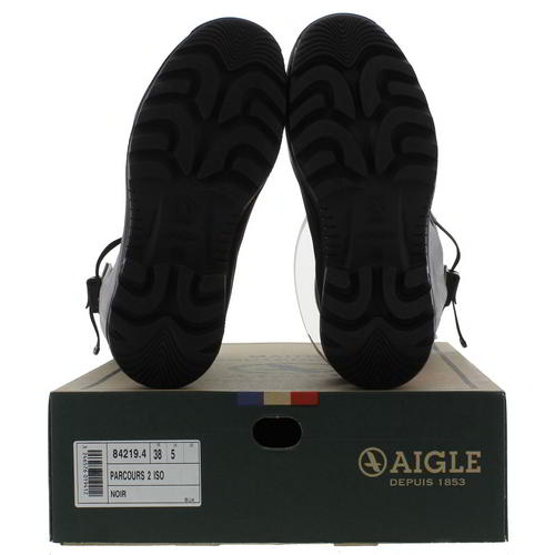 Aigle Parcours 2 ISO Mens Womens Adjustable Neoprene Wellies Boots Black