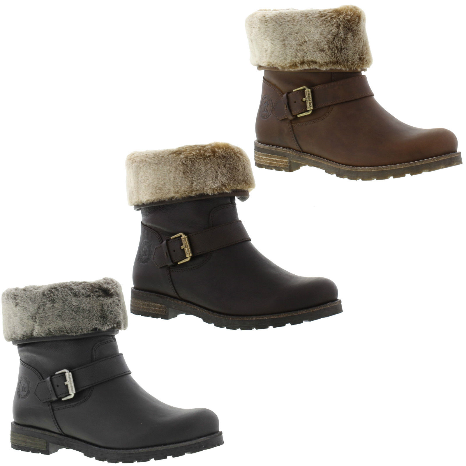 panama jack singapur womens fur lined waterproof leather boots size 4 8 ebay. Black Bedroom Furniture Sets. Home Design Ideas