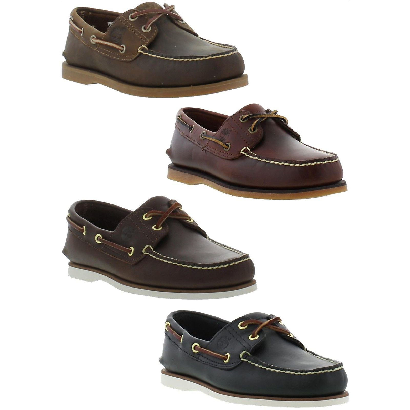 Timberland Classic 2 Eye Boat Shoe Mens Leather Deck Shoes