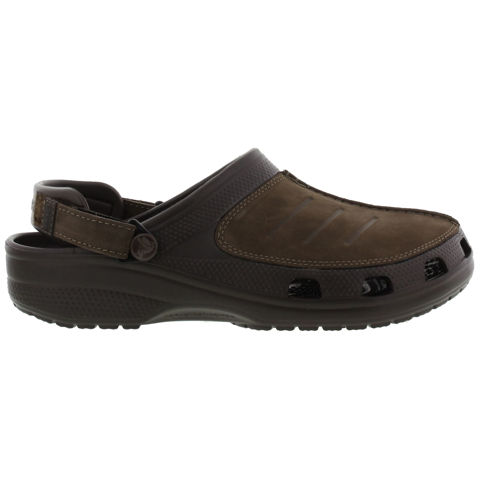Crocs Yukon Mesa Clog Mens Black Brown Leather Clogs Shoes Size UK 6-12 | EBay