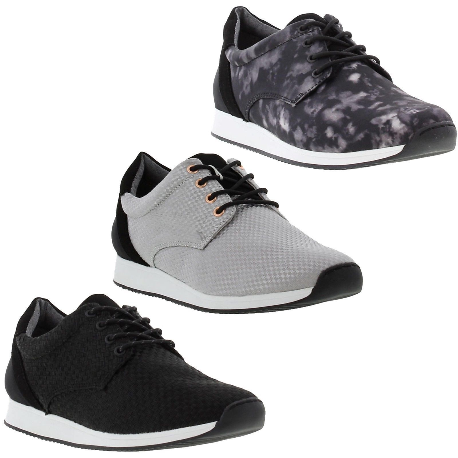 Vagabond Kasai Womens Grey White Sneakers Lace Up Trainers