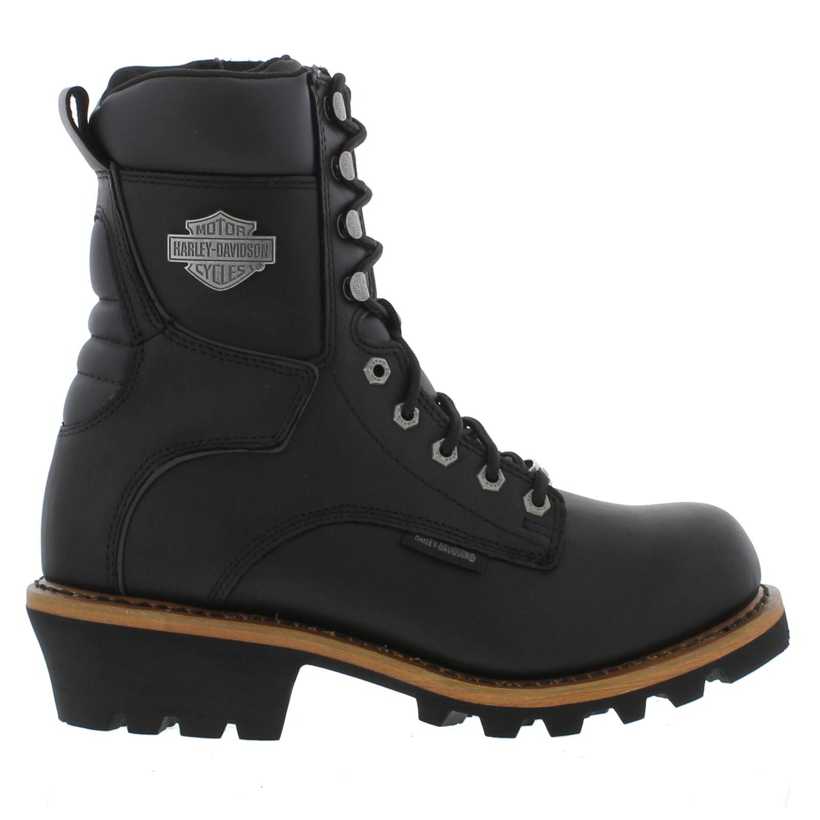 Harley Davidson Black Tyson Logger Boots