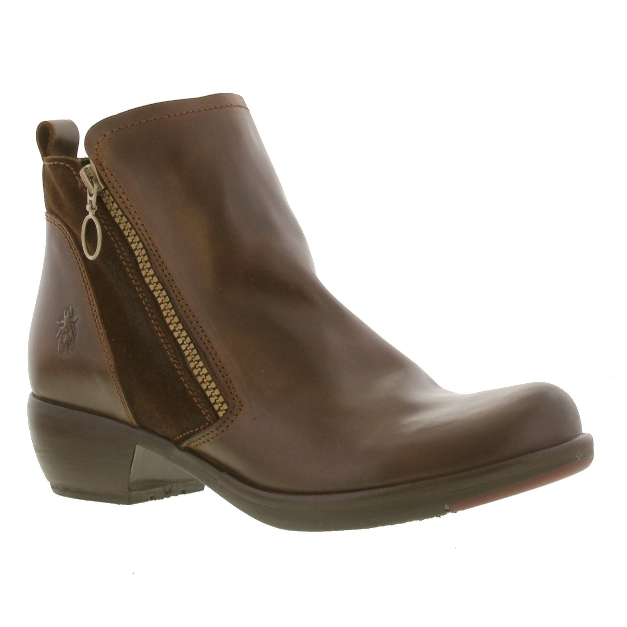 fly london meli womens black brown green leather ankle boots size uk 4 7 ebay. Black Bedroom Furniture Sets. Home Design Ideas
