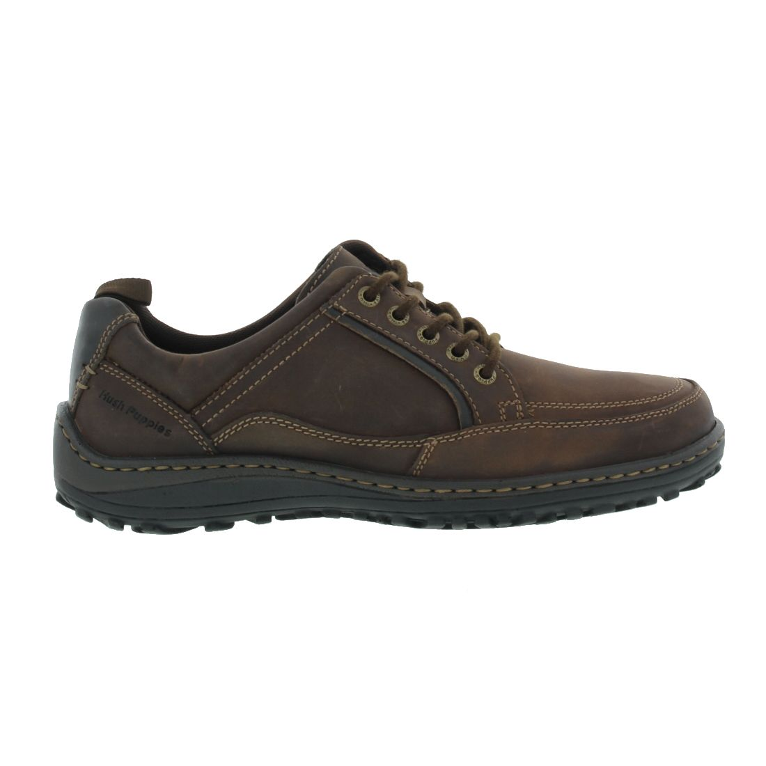 hush puppies belfast oxford mt mens brown leather wide fit