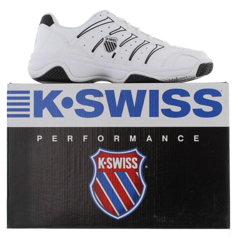 k swiss grancourt ii mens white leather tennis shoes