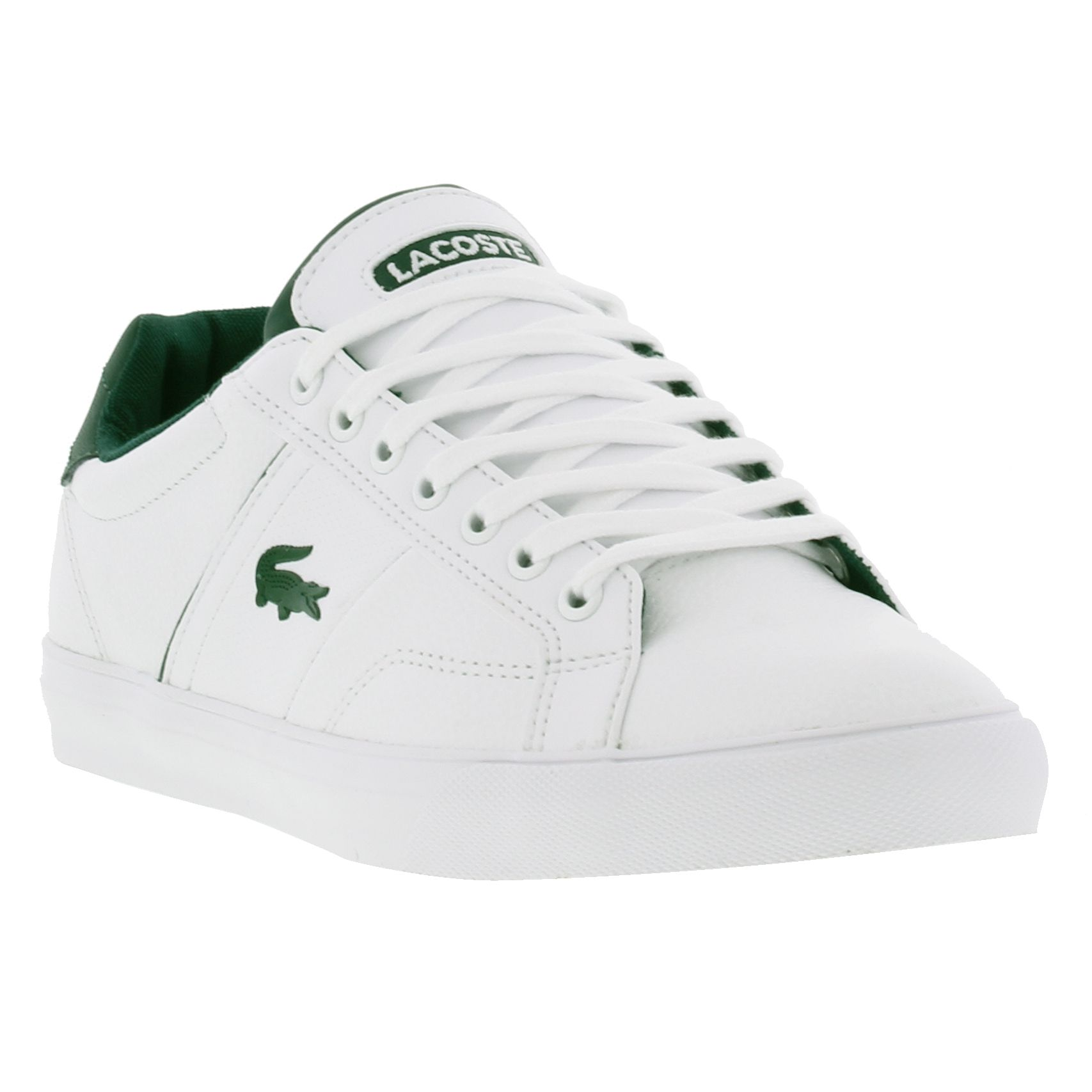 lacoste fairlead rei mens shoes white leather trainers ebay