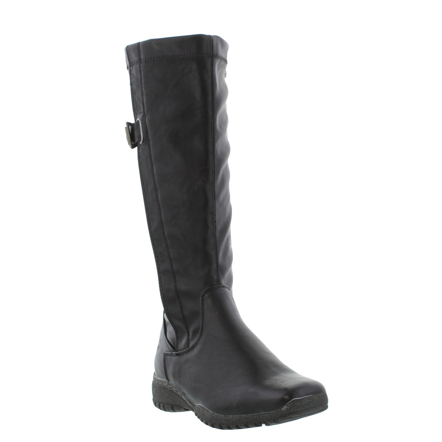 marco tozzi womens brown black tall synthetic soft leather zip boots size uk 3 8 ebay. Black Bedroom Furniture Sets. Home Design Ideas