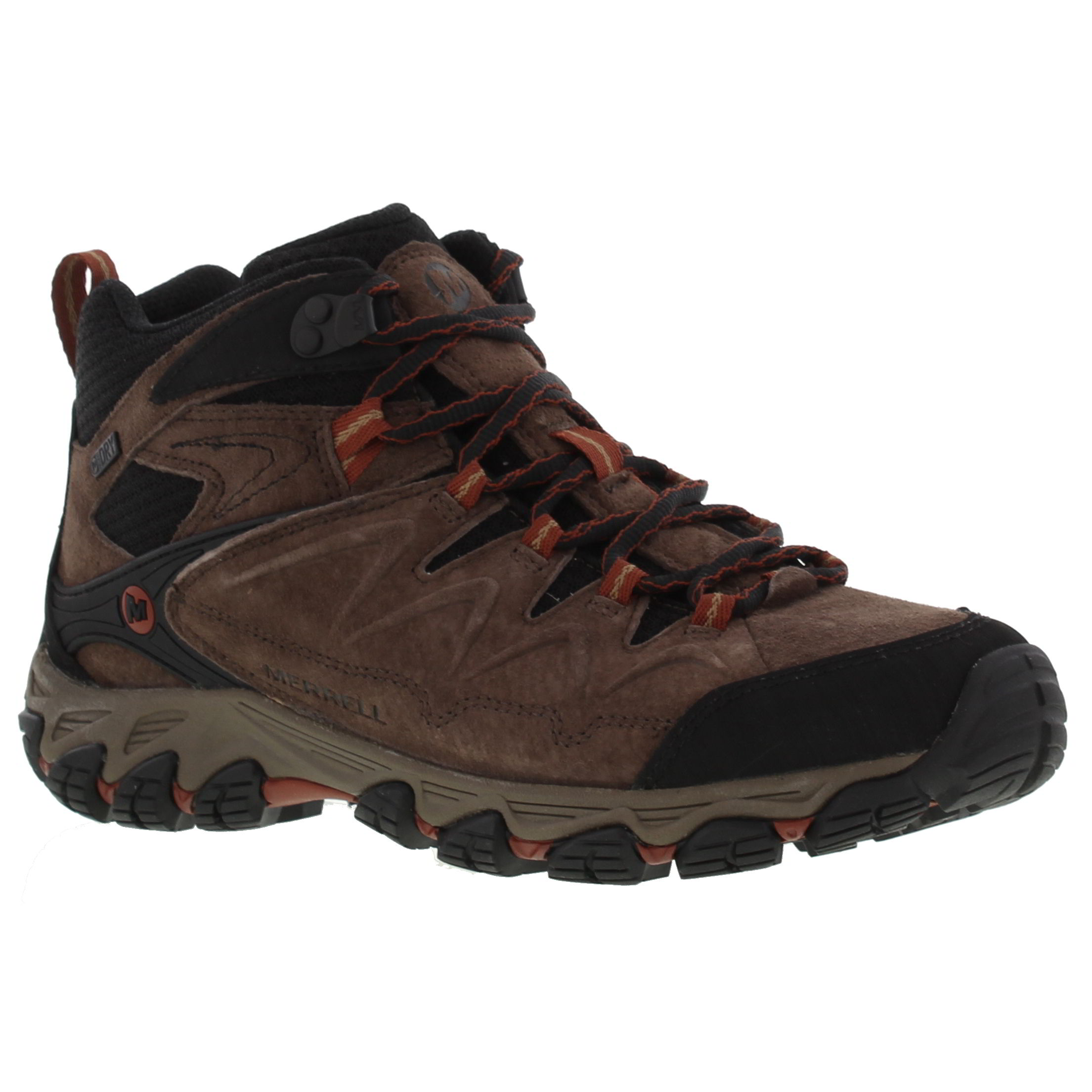 Merrell Serraton Mid Waterproof Mens Brown Leather Walking Ankle ...