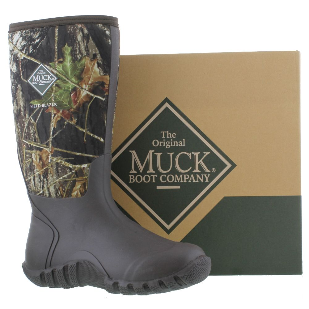 Muck Boots Fieldblazer Mens Neoprene Wellies Camo Wellington Size ...