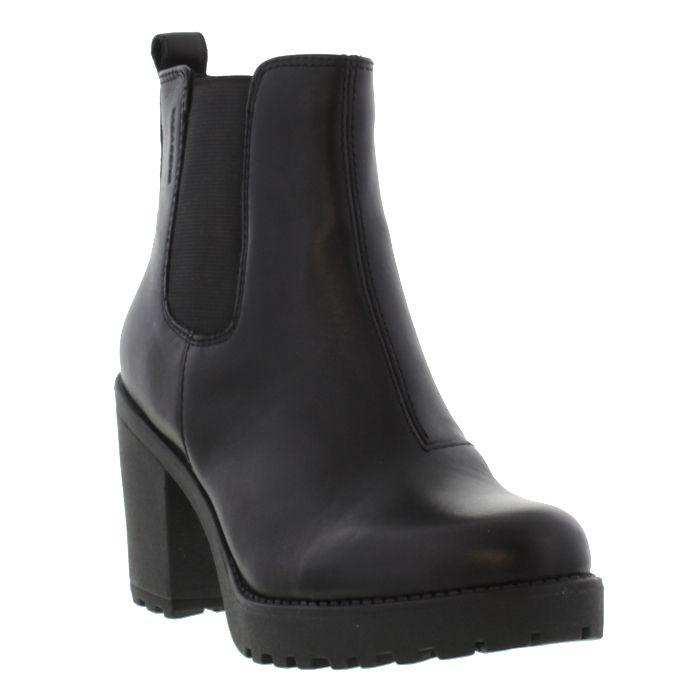 Vagabond Grace Womens Black Leather Platform Chelsea Ankle