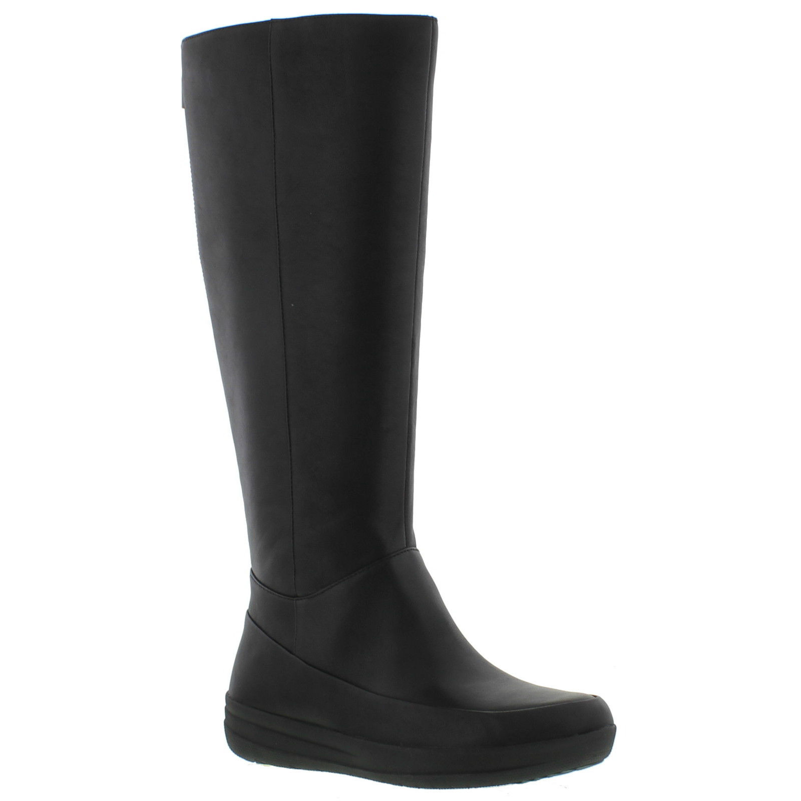 fitflop ff knee boot womens black leather boots
