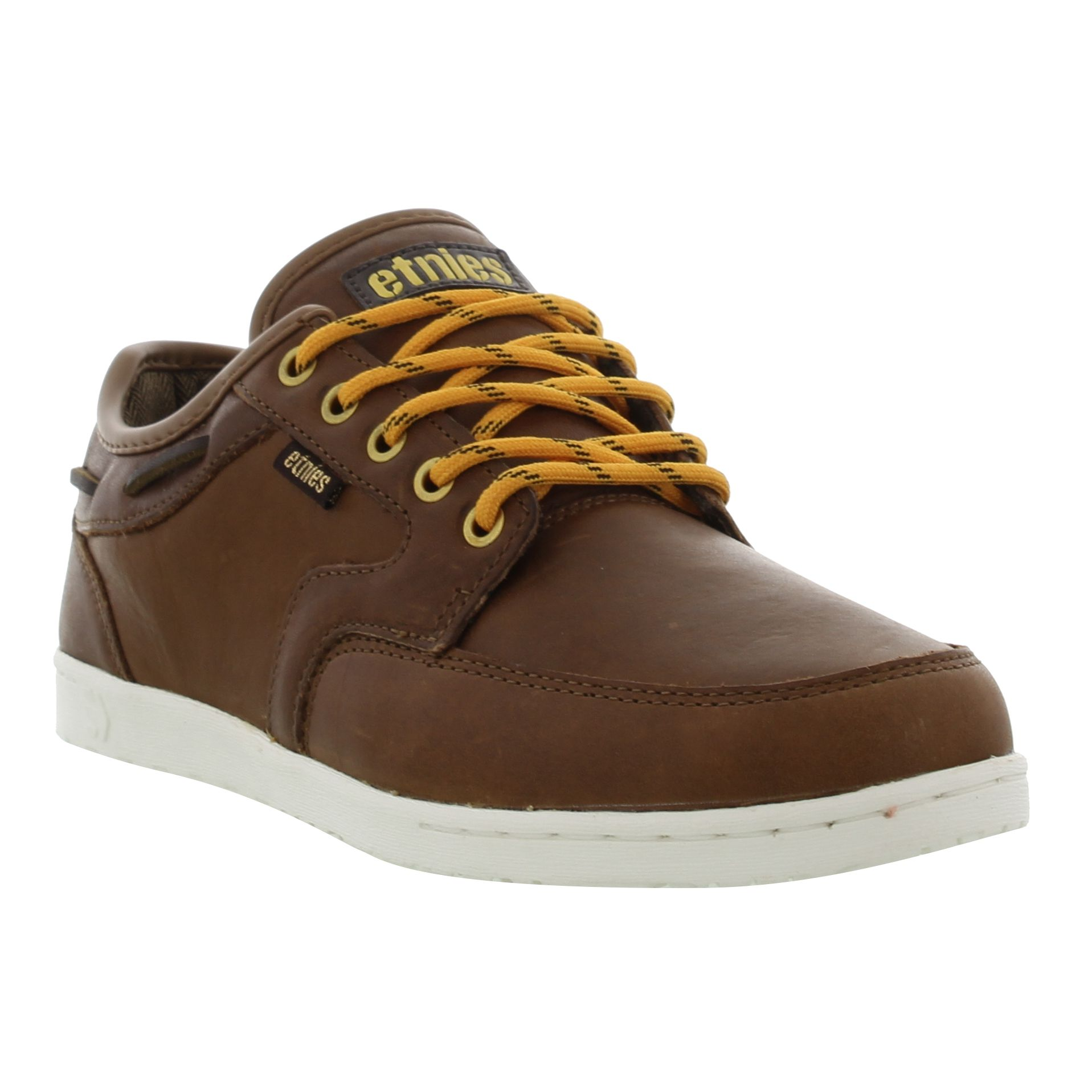 Dory Smu Mens Brown Leather Shoes Trainers