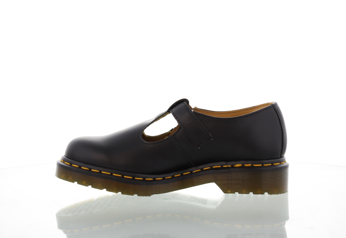 dr martens polley womens black leather t bar school work shoes size 4 9. Black Bedroom Furniture Sets. Home Design Ideas