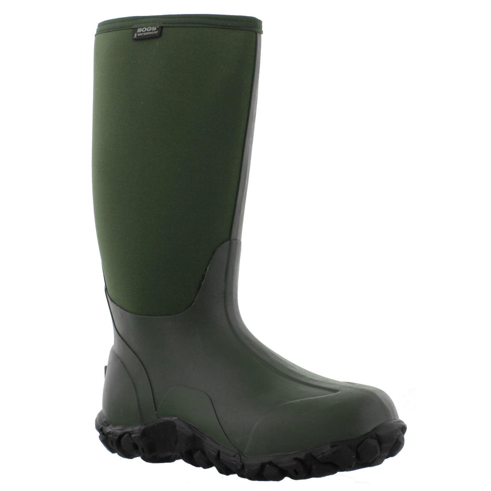 Bogs Classic High Mens Neoprene Wellington Boots Green Hi