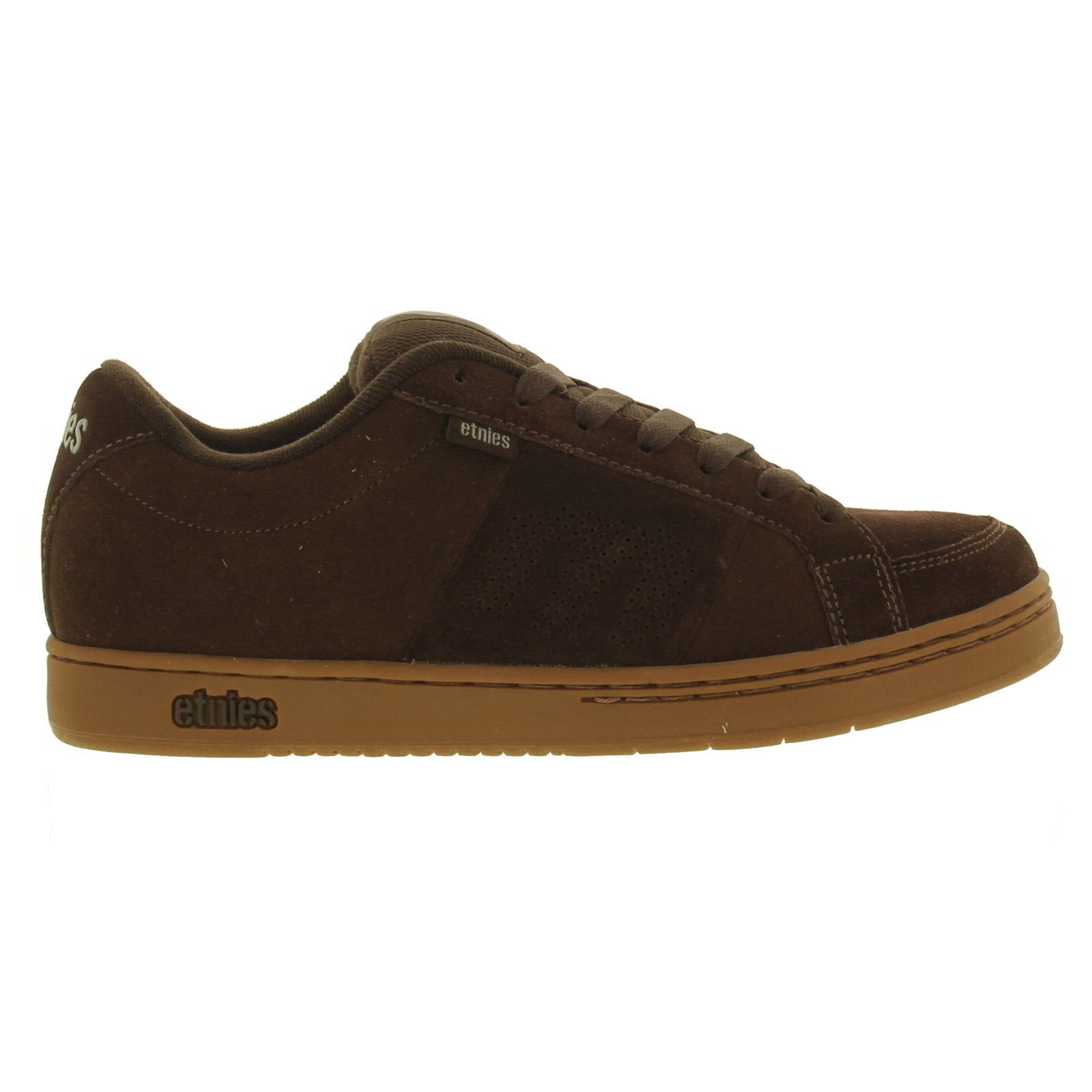 etnies kingpin mens trainers brown suede leather skate