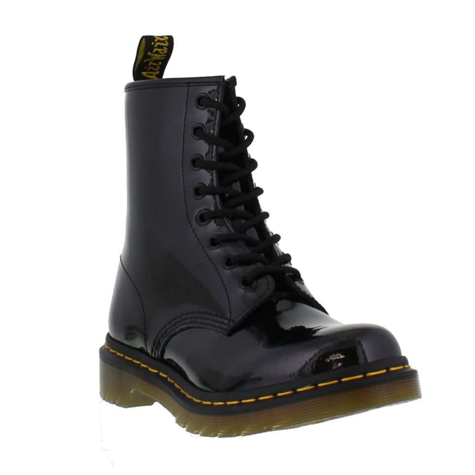 dr martens 1460 patent womens black leather ankle boots size 4 8. Black Bedroom Furniture Sets. Home Design Ideas