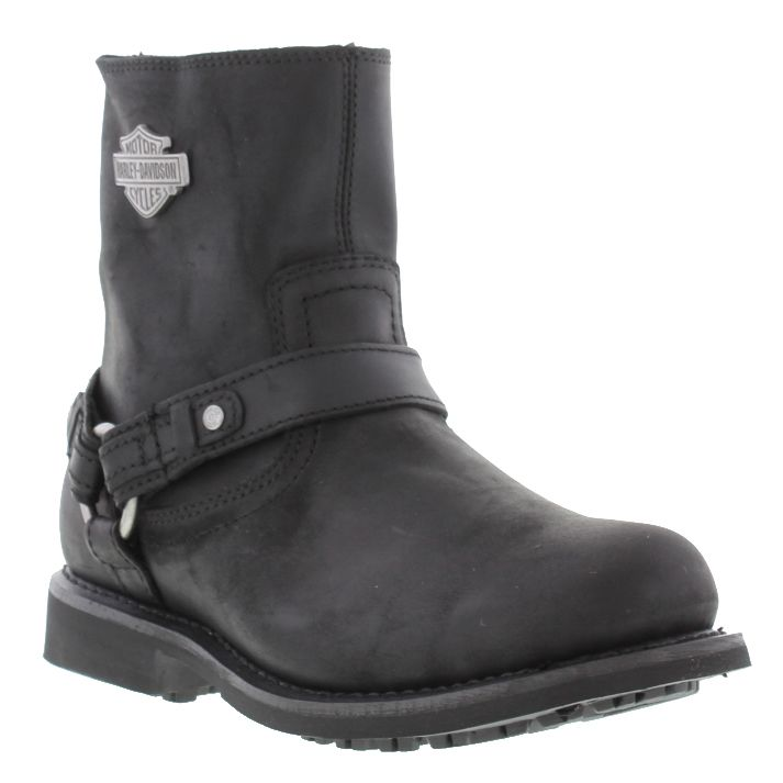 124793a56f32 harley davidson scout mens black brown leather short biker boots