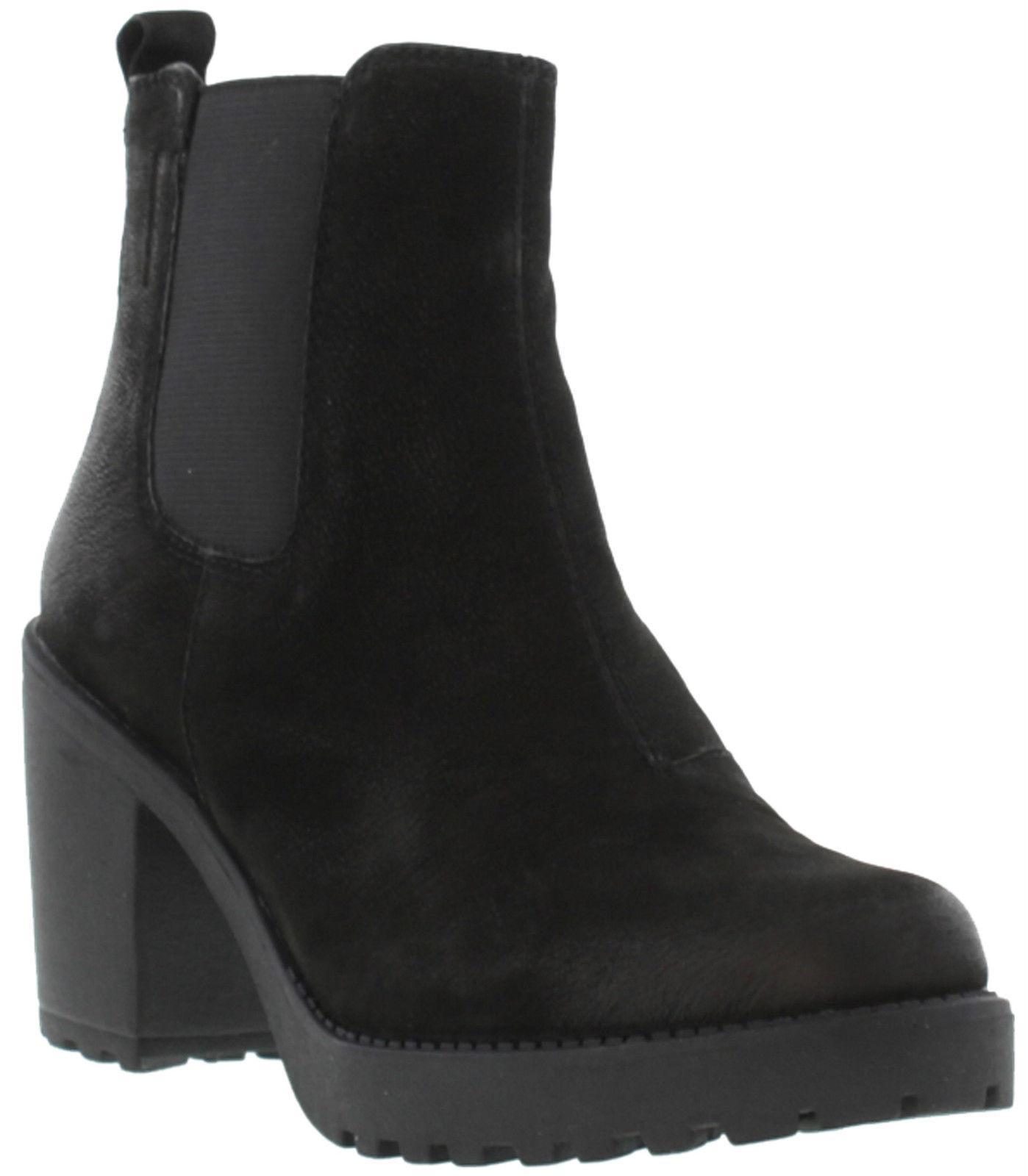 Vagabond Grace Womens Black Nubuck Leather Platform