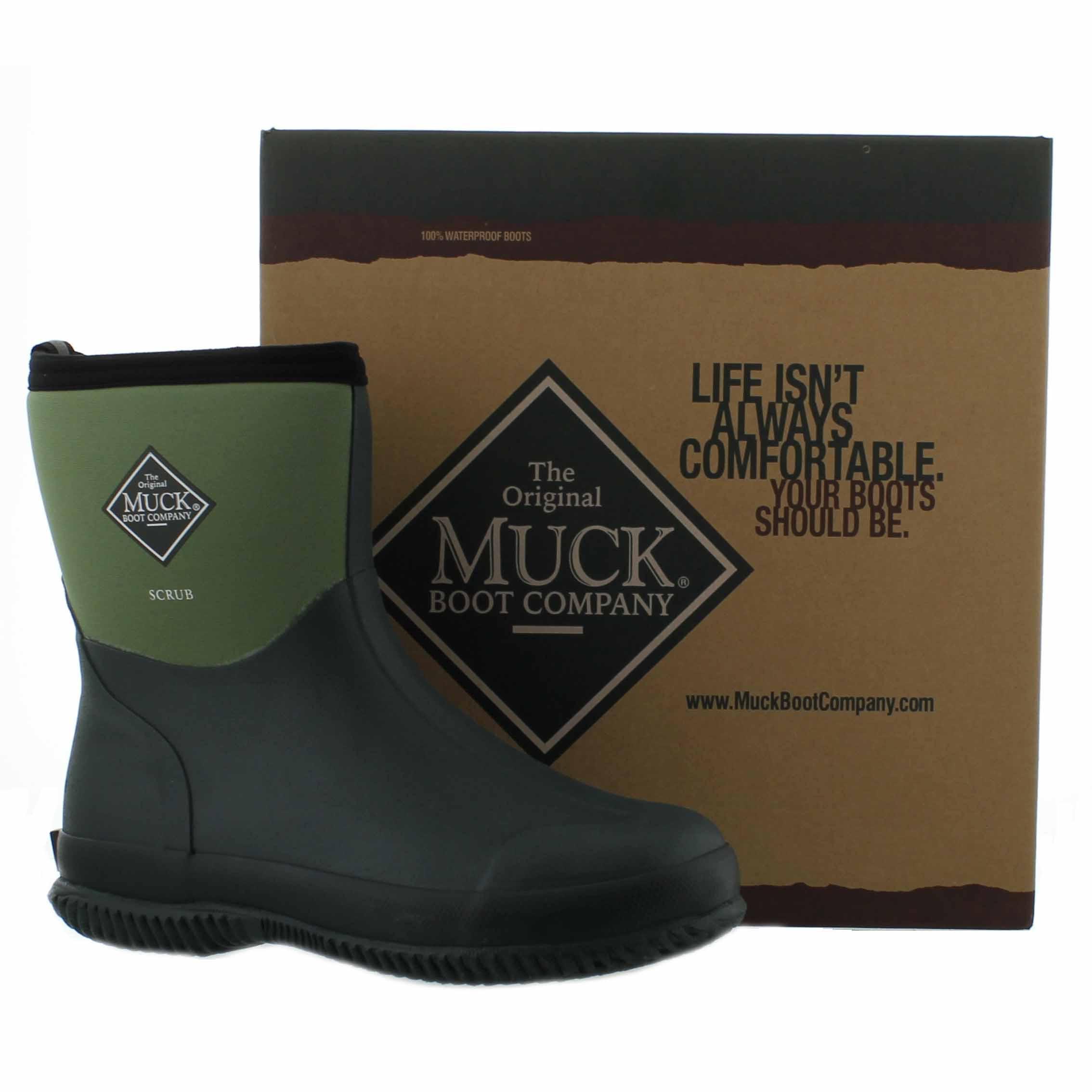 Muck Boots Scrub Short Mens Womens Wellies Green Garden ...
