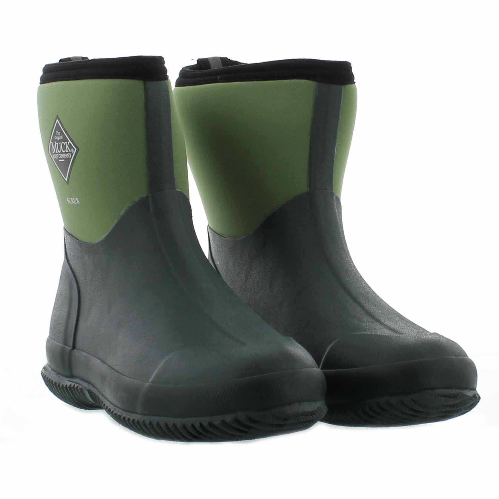 Muck Boots Scrub Short Mens Womens Wellies Green Garden ...