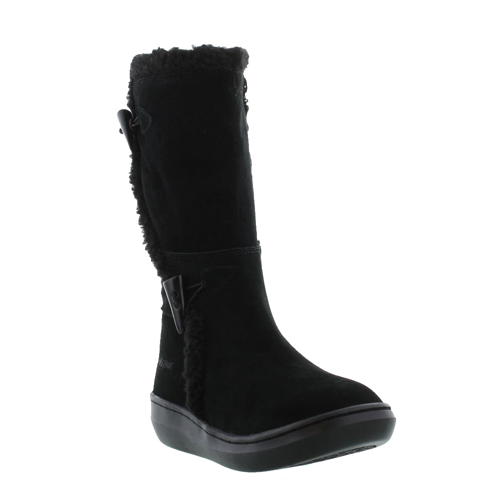rocket slope womens black brown suede leather boots