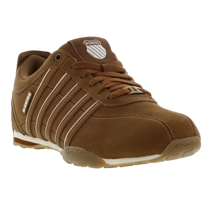 k swiss arvee 1 5 mens brown leather trainers shoes ebay. Black Bedroom Furniture Sets. Home Design Ideas