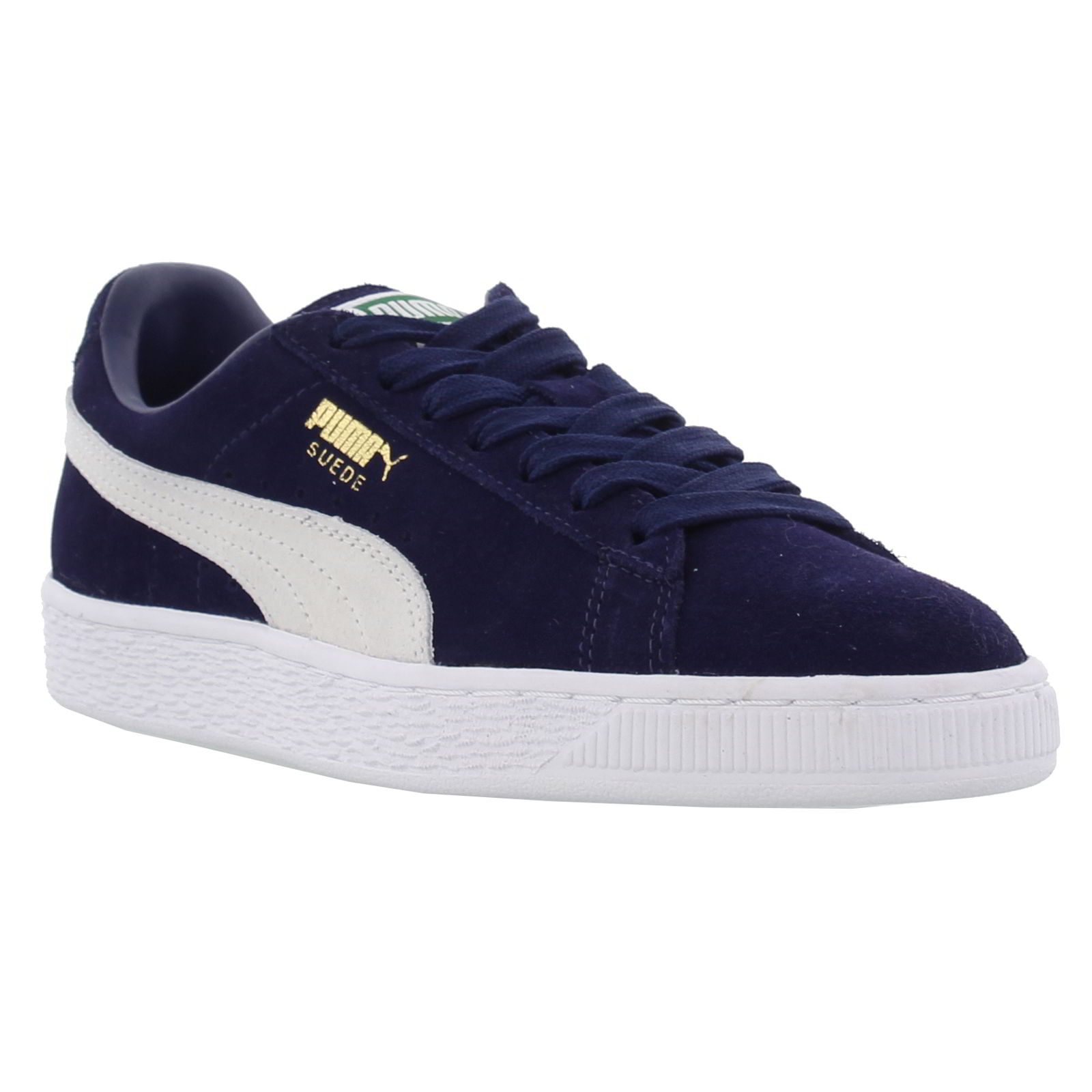 puma suede classic mens womens blue suede leather trainers. Black Bedroom Furniture Sets. Home Design Ideas