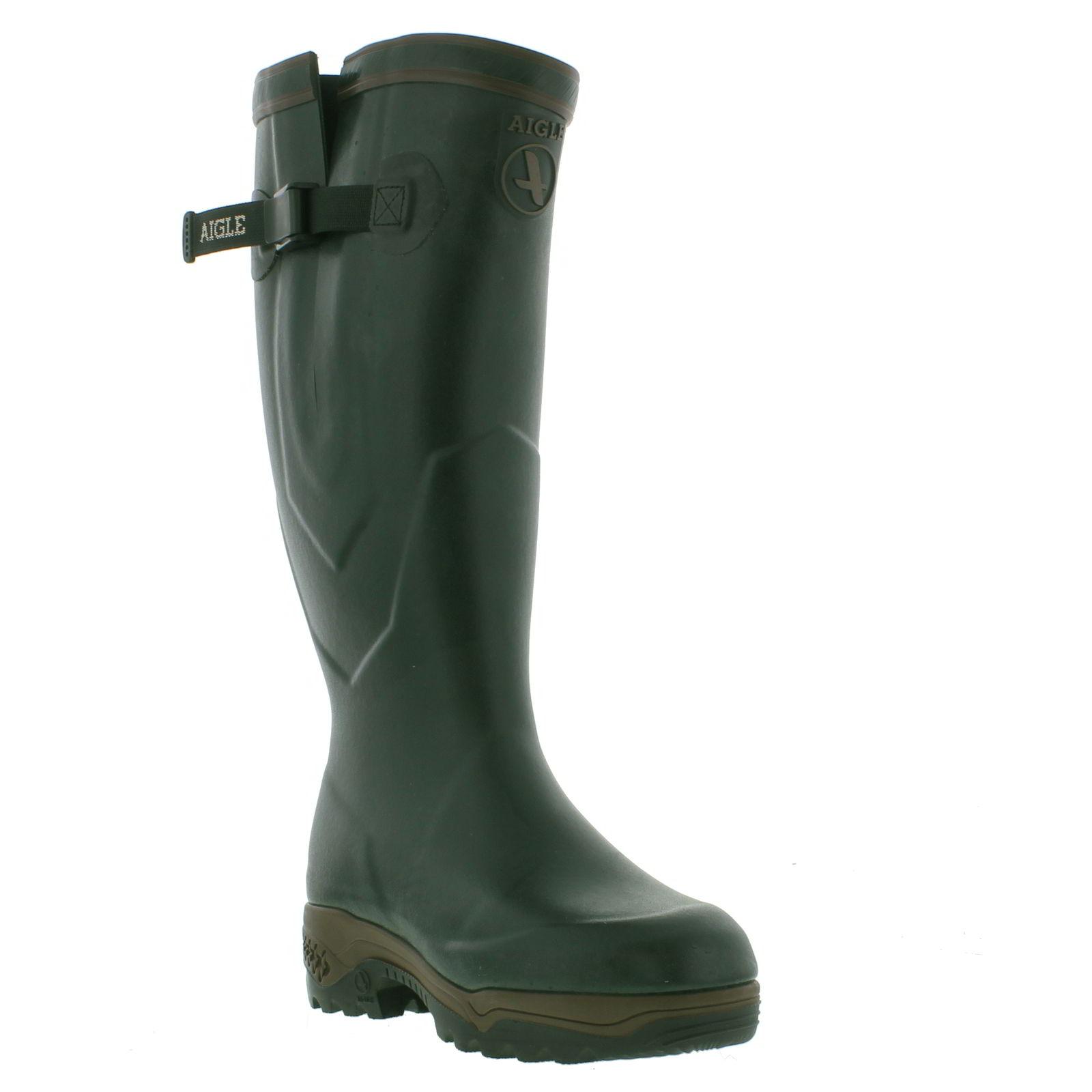 aigle parcours 2 iso wellington mens womens adjustable strap boots size uk 4 11. Black Bedroom Furniture Sets. Home Design Ideas