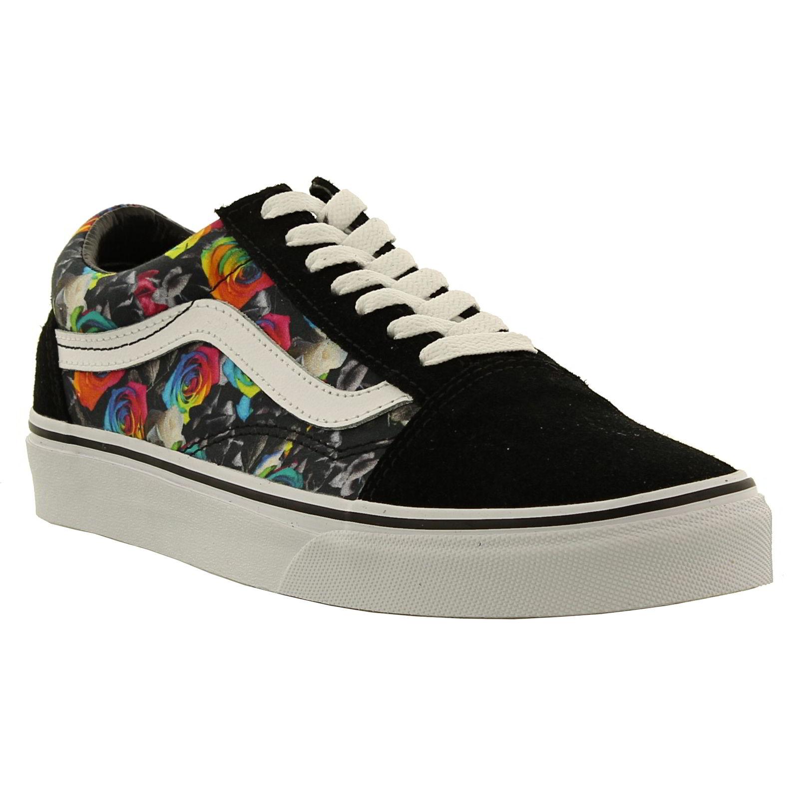 vans old skool womens classic black skate shoes trainers. Black Bedroom Furniture Sets. Home Design Ideas