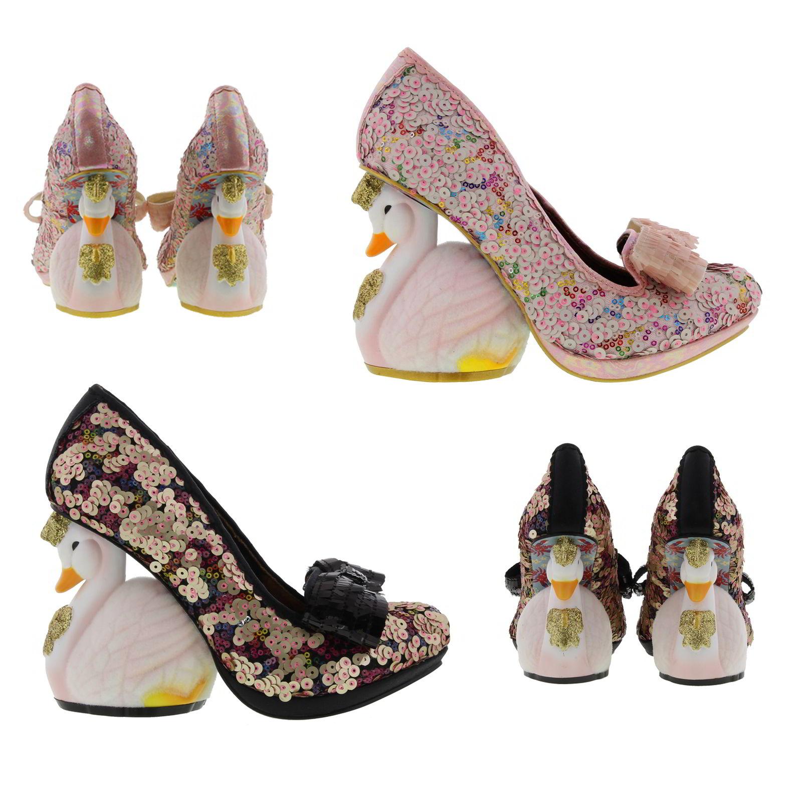 irregular choice savan swan heel womens wedding party shoes size uk 4 8 ebay. Black Bedroom Furniture Sets. Home Design Ideas