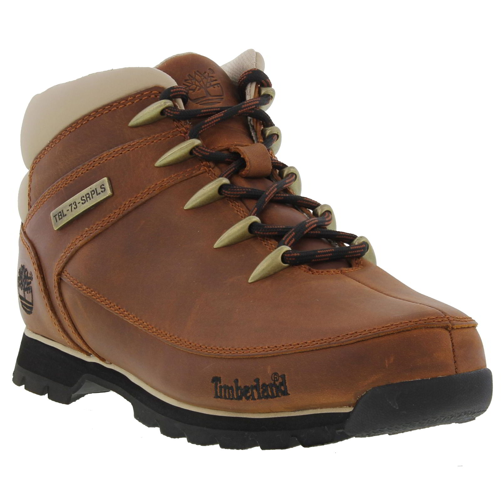 Timberland Euro Sprint Hiker Mens Black Brown Leather Boot