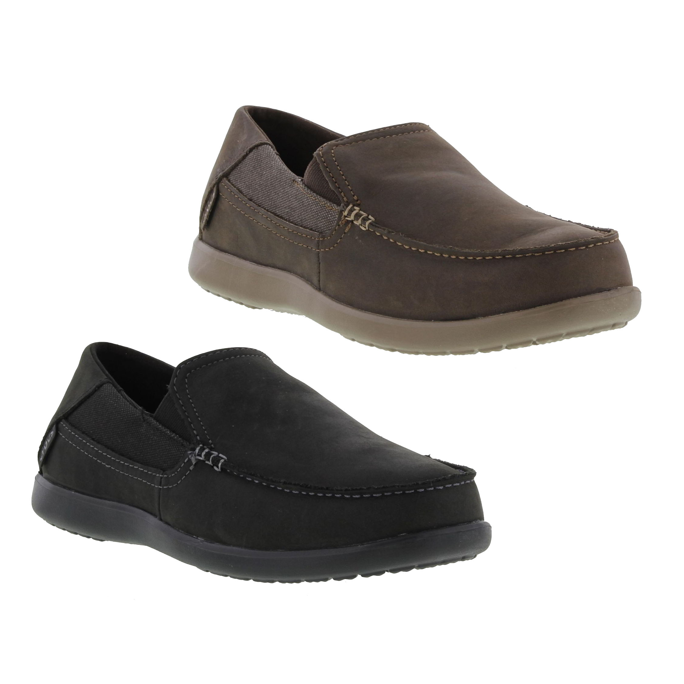 The Crocs® Santa Cruz 2 Luxe are versatile for any occasion. Updated from the original Santa Cruz, this loafer offers a canvas upper and unique stitching for a refined, casual cool look. Perfect for transition from the office to out with friends, the Santa Cruz 2 keeps you cushioned with memory foam pillows on top of Croslite™ material for /5().