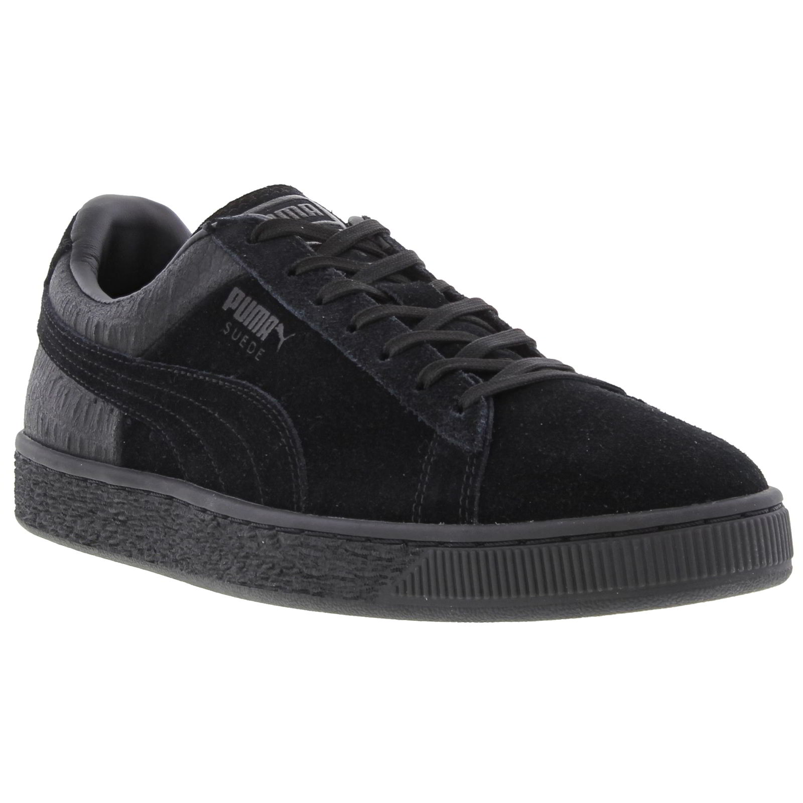 puma suede classic emboss shoes mens black suede leather. Black Bedroom Furniture Sets. Home Design Ideas