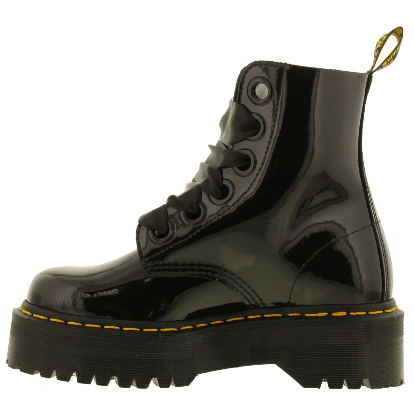 Dr martens molly femmes noir cuir verni plateforme cheville bottes taille 4 8 ebay - Cheville molly taille ...