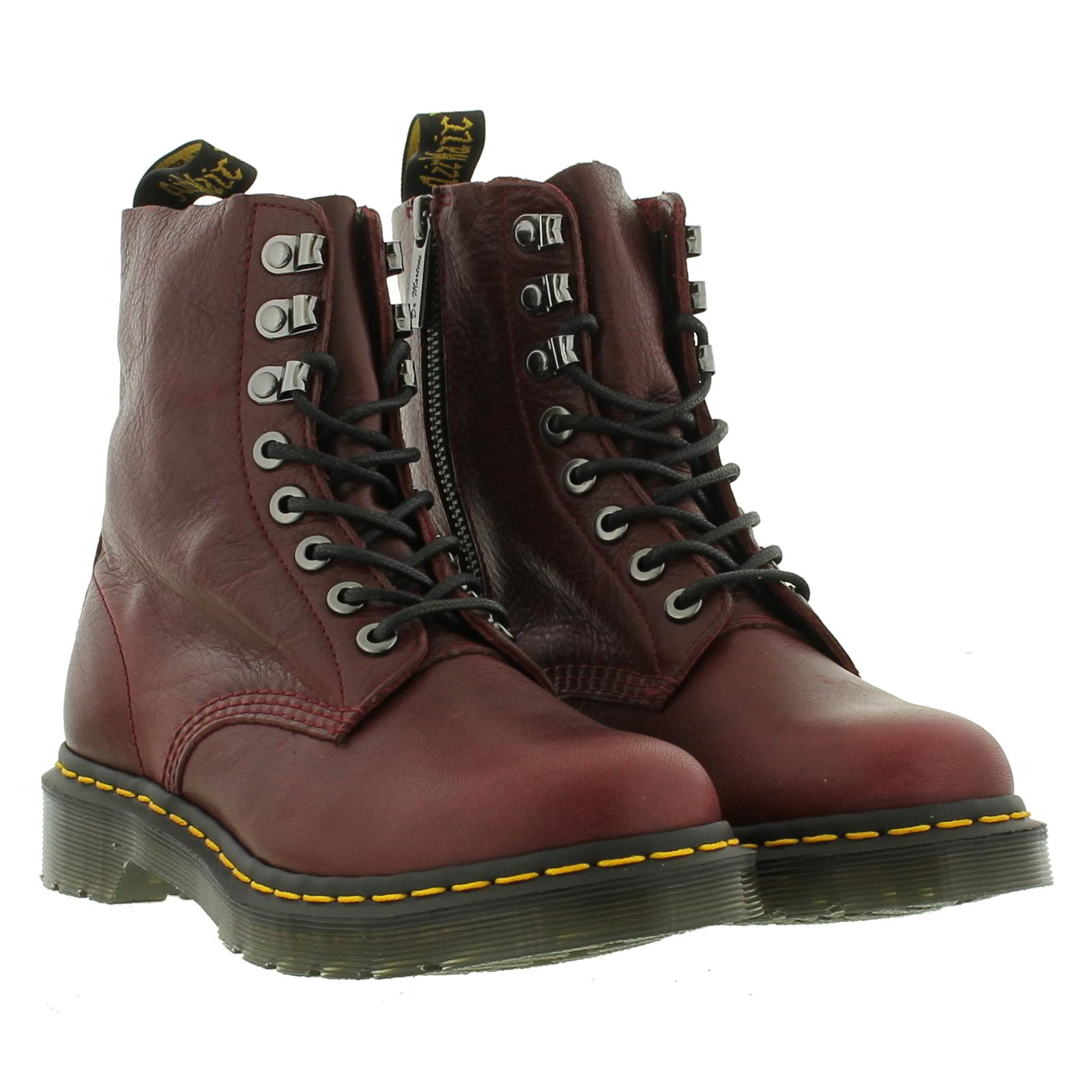 dr martens 1460 pascal pm womens soft leather 8 eye ankle boots size 4. Black Bedroom Furniture Sets. Home Design Ideas