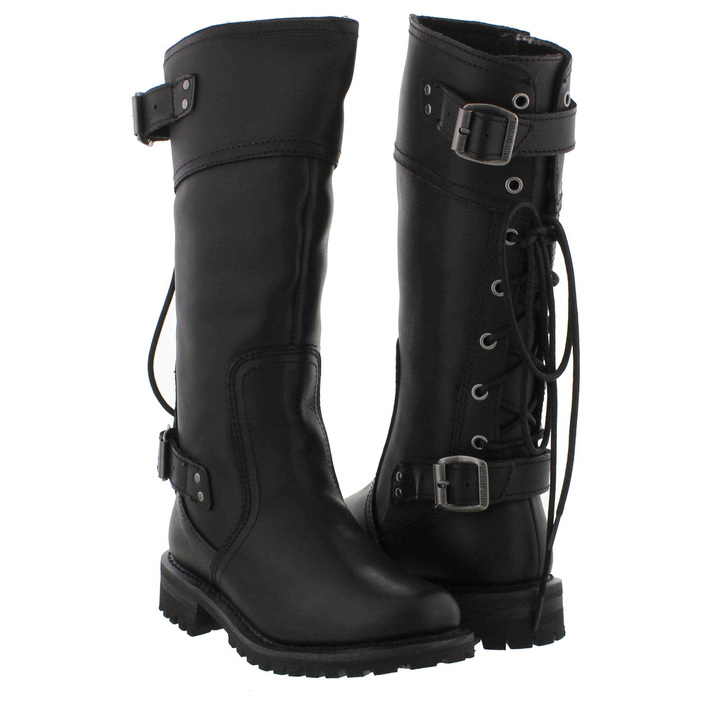 Cool Ladies Womens Harley Davidson Leather Biker Boots Size UK 4 5 6 7 8