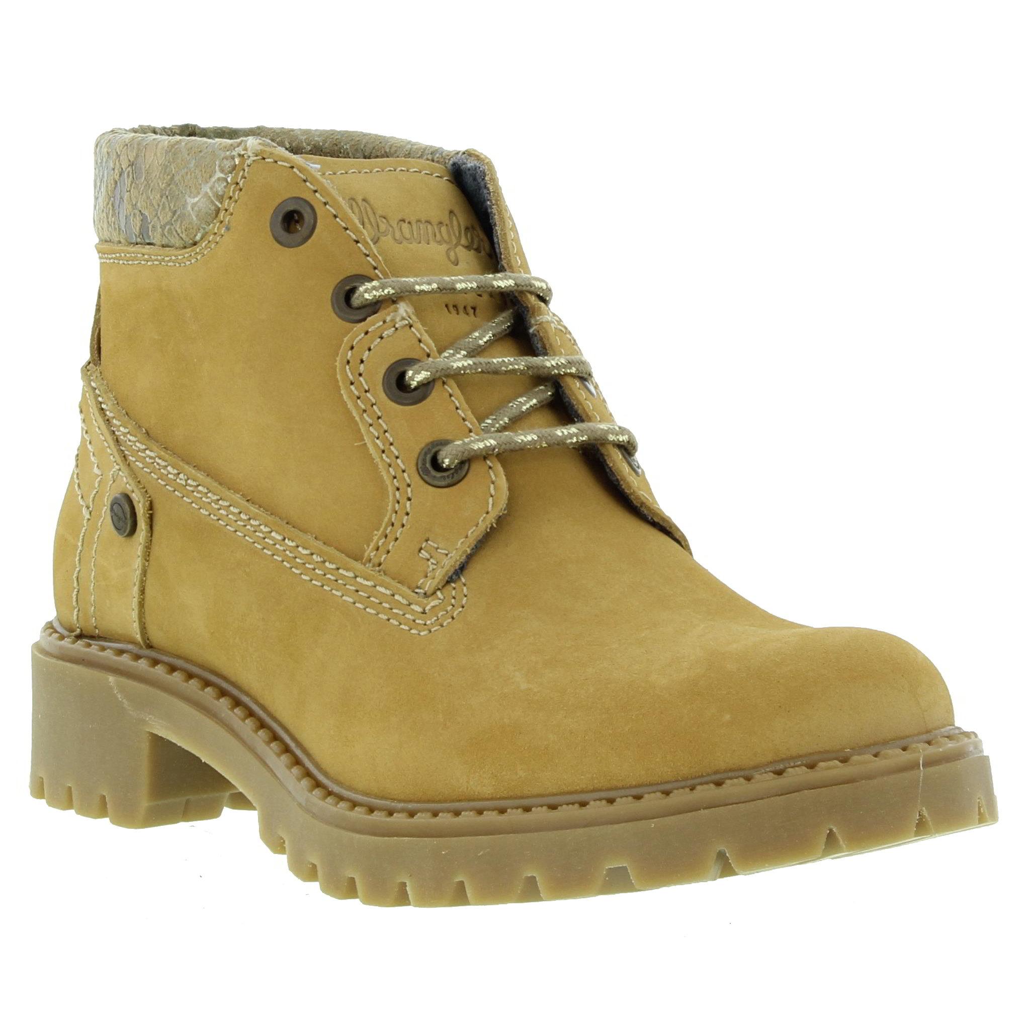 wrangler creek chukka womens brown leather ankle chukka