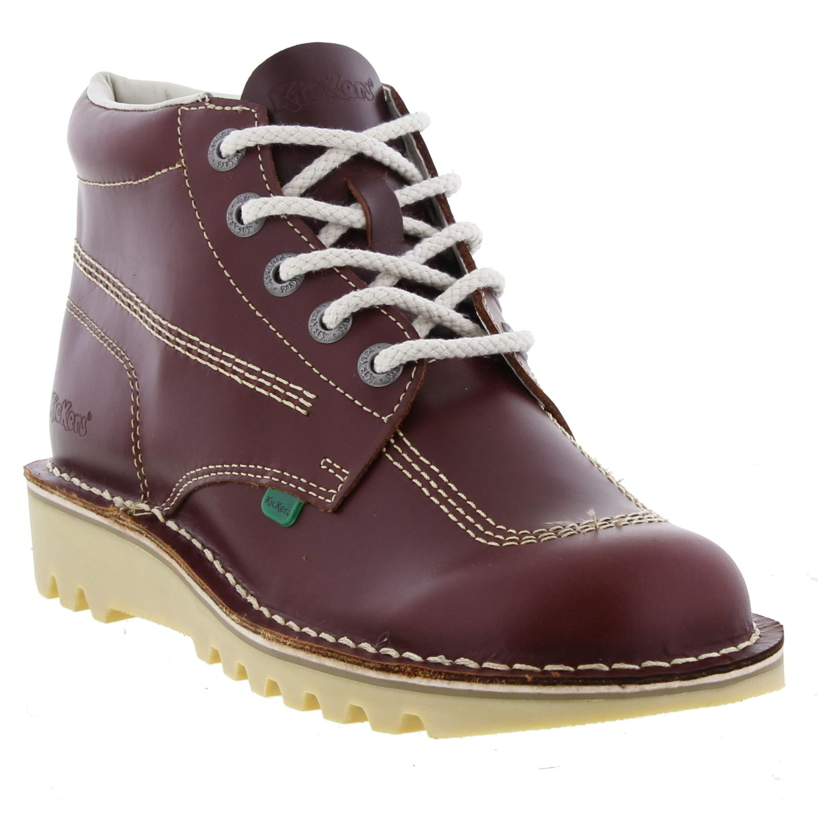 Kickers M Kick Hi Mens Red Leather Ankle Boots Size 6-11 ...